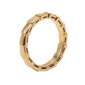 Bvlgari Serpenti Viper Rose Gold Wedding Band Ring Size 57
