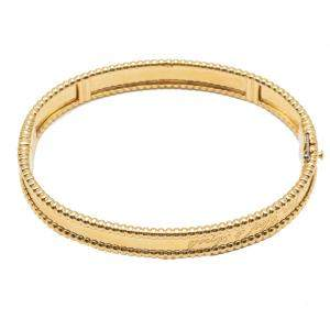 Van Cleef & Arpels Purlee Signature Yellow Gold Bracelet Medium Size