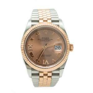 Rolex Date-Just 126231 Steel & Rose Gold Pink  Diamond Dial Watch 36MM