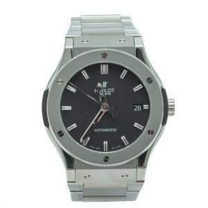 Hublot Classic Fusion Black Dial Titanium & Steel Men's Watch 45 MM