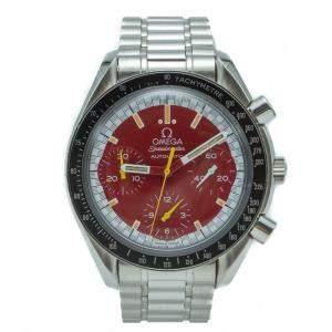 Omega Red Michael Schumacher Speedmaster Chronograph Watch 39 MM