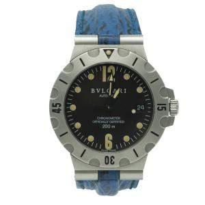 Bvlgari Black Diagono Scuba Stainless Steel Automatic Watch 38MM