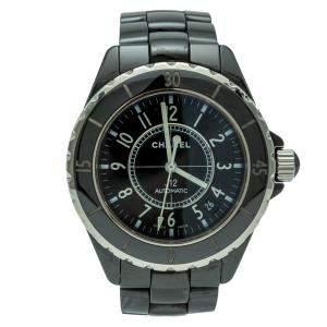 Chanel J12 Black Ceramic Automatic Women's Watch 38MM