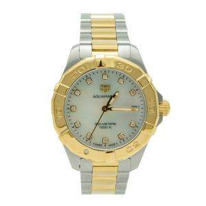 Tag Heuer Aquaracer White Mother Of Pearl Diamond Dial Steel Women's Watch 32MM