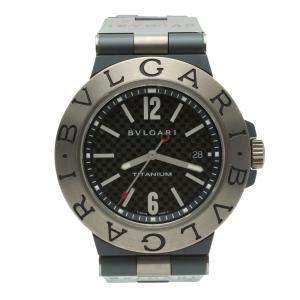Bvlgari Diagono Black Carbon Fiber Titanium Automatic Men's Watch 44MM