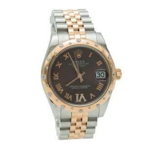 Rolex Datejust Steel & Rose Gold Diamond Dial & Bezel Women's Watch 31 MM