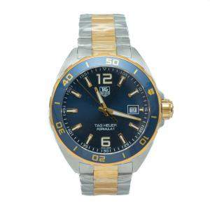 Tag Heuer Formula 1 Blue Dial Silver & Yellow Gold Plated Steel Men's Watch 41 MM