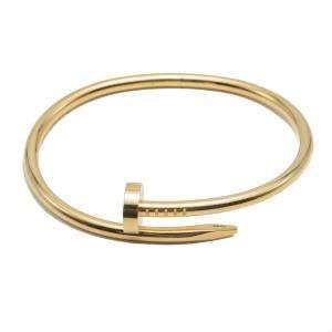 Cartier Juste Un Clou Yellow Gold Bracelet Size 17