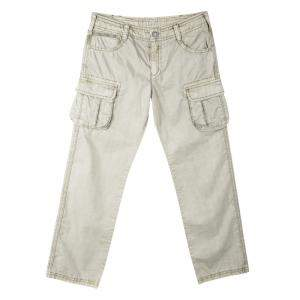 Armani Junior Beige Cold Pigment Overdyed Cotton Cargo Pants 8Yrs
