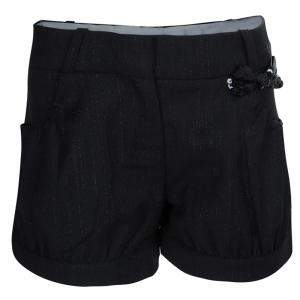 Baby Dior Black Sequinned Bow Detail Shorts 8 Yrs