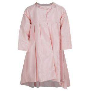Baby Dior Rose Pink Silk Dress Coat 12 Yrs