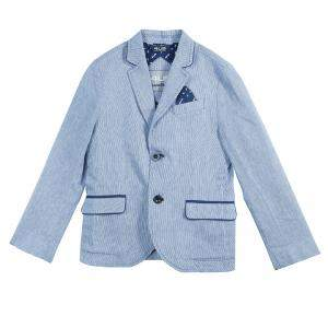 Cesare Paciotti Blue Pinstripe Blazer 8 Yrs