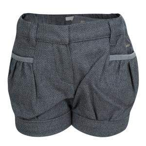 Chloe Grey Textured Cotton Shorts 18 Months