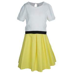 Dior Colorblock Pleated Short Sleeve Dress 12 Yrs