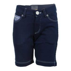 Fendi Kids Navy Blue Zucchino Detail Shorts 4 Yrs