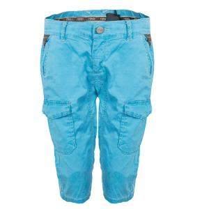 Fendi Kids Light Blue Zucchino Detail Print Shorts 6 Yrs