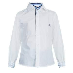 قميص جيانفرانكو فيري أبيض زخارف كاروهات 6 سنوات