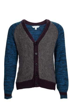Little Marc Jacobs Colorblock Knit Buttondown Cardigan 5 Yrs