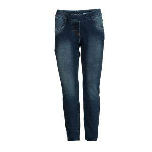 Monnalisa Washed Indigo Terry Embellished Side Stripe Detail Jeggings 10 Yrs