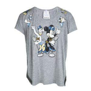 Monnalisa NY & LON Grey Daisy Duck and Minnie Mouse Printed T-shirt 10 Yrs