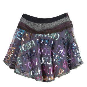 Roma e Tosca Multicolor Sequin Embellished Skirt 10 Yrs