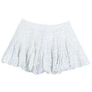 Roma e Tosca White Eyelet Embroidered Tiered Skirt 12 Yrs