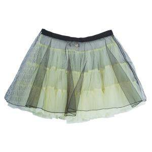 Roma e Tosca Yellow Tulle Overlay Skirt 14 Yrs