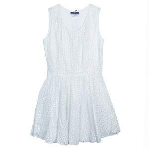 Roma e Tosca White Eyelet Embroidered Sleeveless Dress 10 Yrs