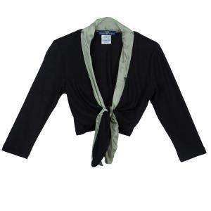 Roma e Tosca Black Silk Trim Bolero Top 12 Yrs