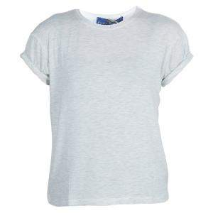 Roma e Tosca Light Grey Melange Tshirt 8 Yrs