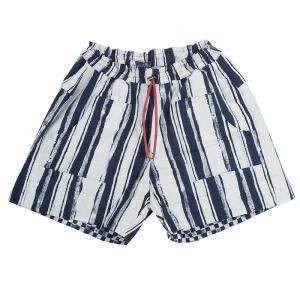 Roma e Tosca Blue & White Striped Adjustable Shorts 14 Yrs