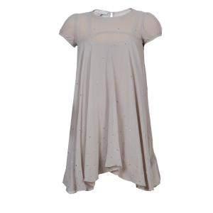 Stella McCartney Kids Beige Crystal Studded Dress 5 Yrs