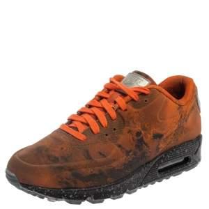 Nike Orange/Black Neoprene Air Max 90  Mars Landing Sneaker Size 42.5