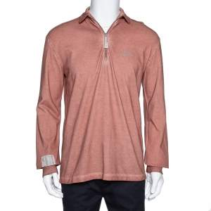 A Cold Wall Sandstone Orange Half Zipper Front Sweatshirt M