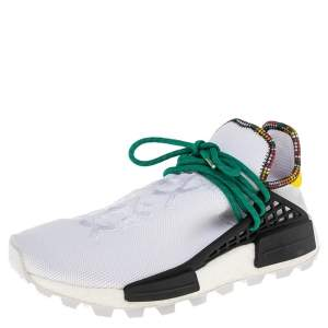 Pharrell Williams x Adidas White Fabric Human Body NMD Sneakers Size 40.5