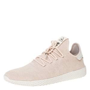 Pharrell Williams x Adidas Light Cream Cotton Knit PW Tennis Hu Sneakers Size 46