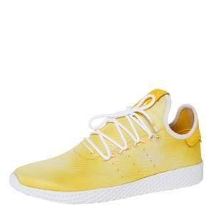 Pharrell Williams x Adidas Holi Yellow Cotton Knit PW Tennis Hu Sneakers Size 46