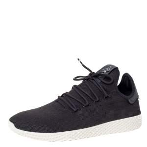 Pharrell Williams x Adidas Dark Grey Cotton Knit PW Tennis Hu Sneakers Size 46