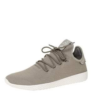 Pharrell Williams x Adidas Chalk Green Cotton Knit PW Tennis Hu Sneakers Size 46