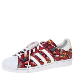 Adidas Multicolor Leather Superstar Nigo Bearfoot Sneaker Size 46