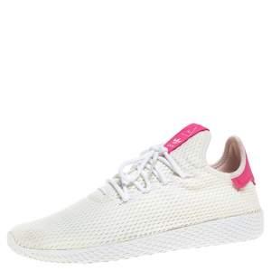 Pharrell Williams x Adidas White Cotton Knit PW Tennis Hu Sneakers Size 46