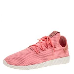 Pharrell Williams x Adidas Pink Cotton Knit PW Tennis Hu Sneakers Size 46