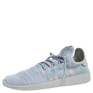 Pharrell Williams x Adidas Grey/Pink Cotton Knit  PW Tennis Hu Sneakers Size 46