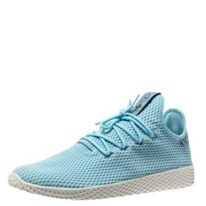 Pharrell Williams x Adidas Blue Cotton Knit PW Tennis Hu Sneakers Size 46