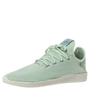 Pharrell Williams x Adidas Mint Green Cotton Knit PW Tennis Hu Sneakers Size 46