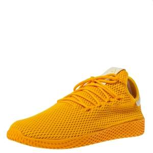 Pharrell Williams x Adidas Solid Gold Cotton Knit PW Tennis Hu Sneakers Size 46