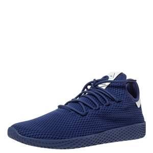 Pharrell Williams x Adidas Dark Blue Cotton Knit PW Tennis Hu Sneakers Size 46