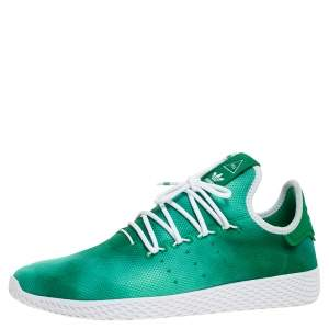 Pharrell Williams x Adidas Holi Green Knit Fabric PW Tennis Hu Sneakers Size 46