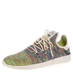 Adidas Multicolor Cotton Knit Pharrell Williams Tennis Hu Sneakers Size 46