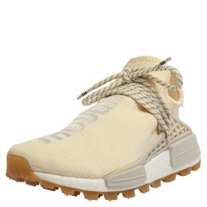 Adidas Cream White Fabric PW HU NMD PRD Pharrell Williams Sneakers Size 39.5